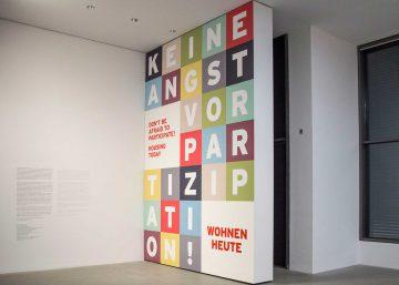 Exhibition 2016 Keine Angst Vor Partizipation Wohnen Heute Ausstellungsdesign Ester Vletsos