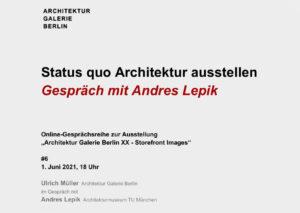 Status quo Architektur ausstellen